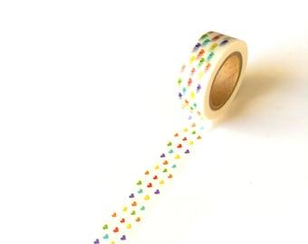 Washi Tape Mini Multicolored Hearts