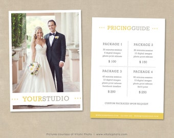 Photography Pricing Template Price List Wedding Guide Photo Pricelist