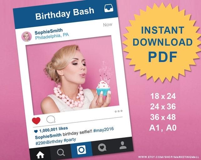 Foto de Social Media de estilo Instagram PDF apoyo marco Foto | Etsy