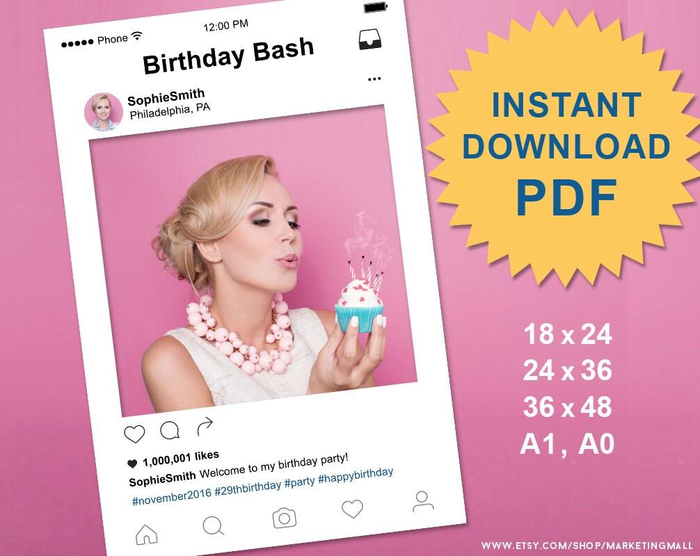 Instagram Rahmen Photo Booth Requisiten Instagram Hochzeit | Etsy
