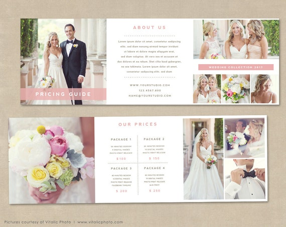 trifold brochure price guide brochure trifold template for etsy