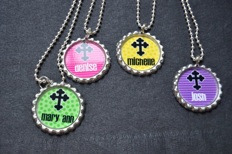 bible cover 4 Personalized Cross Zipper pull party favor Choose FINISHED or DIY Craft kit,Plain or GLITTER epoxy