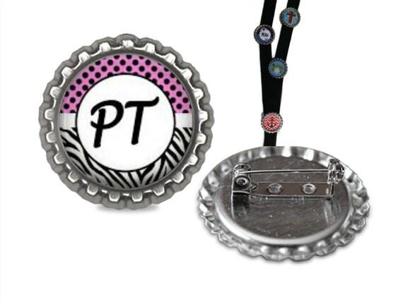La thérapie physique longe Pin longe clip id, identifiant, PT rétractable id, id longe, nom étiquette, porte-badge, pince, porte-badge nom