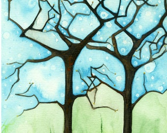 "Quietude II Original 6""x 9"" Watercolor Painting"