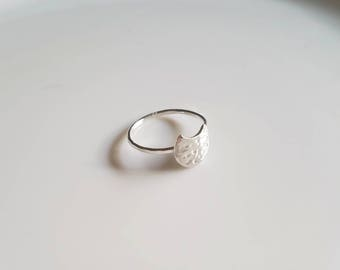 Sterling silver luna ring, size 7