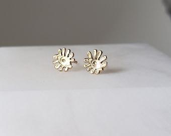 Tiny Eye 14k Gold Stud Earrings