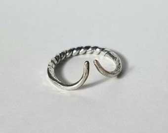 One of a kind sterling silver Taurus ring II, size 7, slightly adjustable
