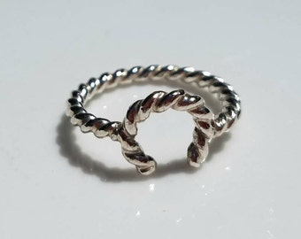 Sterling silver Lucky rope ring