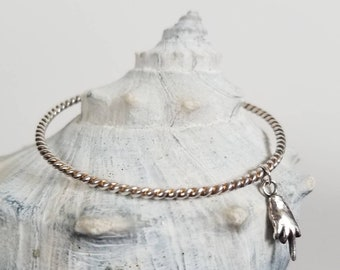 Put a Bird on It Sterling Silver Twisted Rope Stacking Bangle