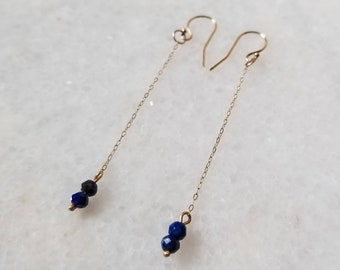 14k gold subtle chain dangles