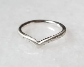 The Relic Hand Stamped Arch Ring, Size 6.5