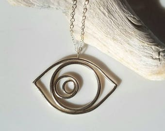 Sterling silver eye pendant