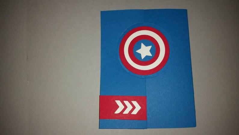 Tarjeta De Cumpleanos De Capitan America Capitan America Etsy