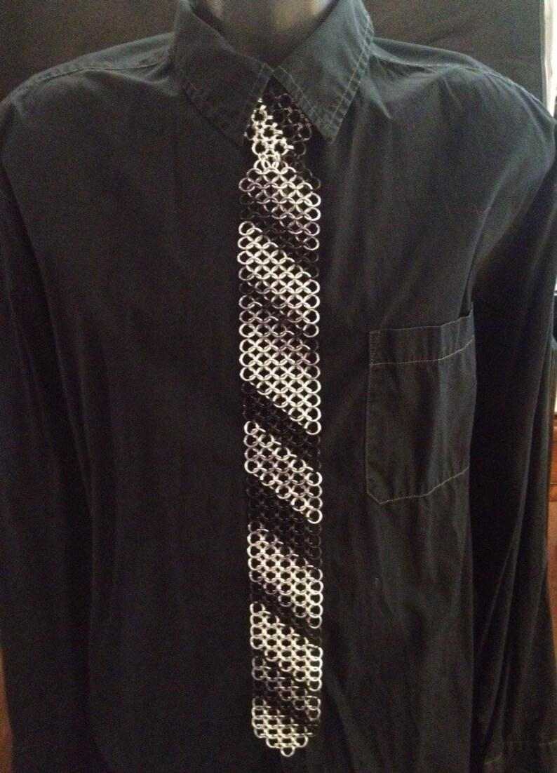 4637962b37a Chainmaille Necktie  Chain Mail Tie European 4 in 1 weave