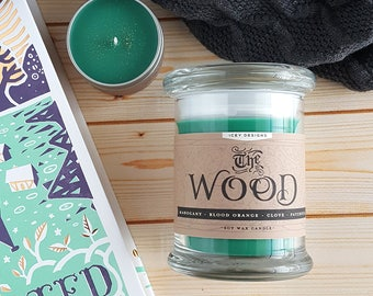 The Wood // Uprooted by Naomi Novik // 8oz Jar Scented Soy Candle