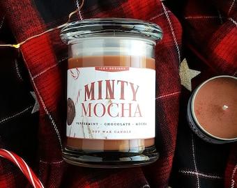 Minty Mocha // Reading Companion 8oz Jar Scented Soy Candle