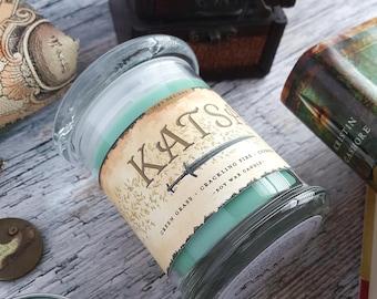Katsa // Graceling by Kristin Cashore // 8oz Jar Scented Soy Candle