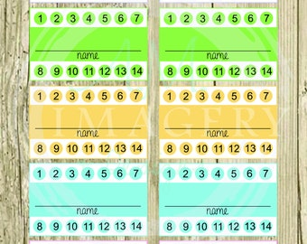 image relating to Printable Punch Card known as Printable punch card Etsy