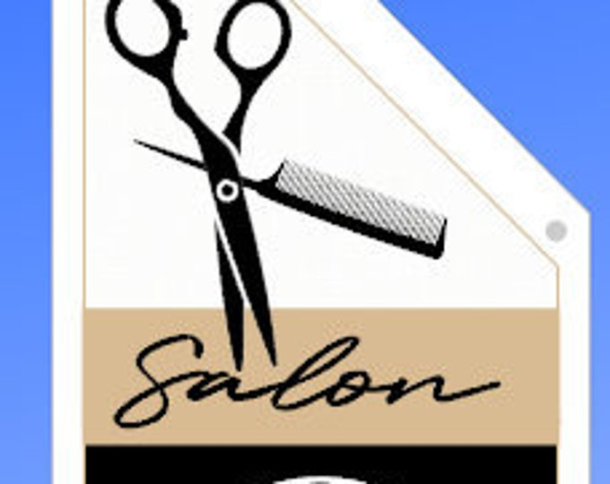 SALON OPEN Flag  * Split Canvas * double sided outdoor canvas * pole & bracket included Personalized