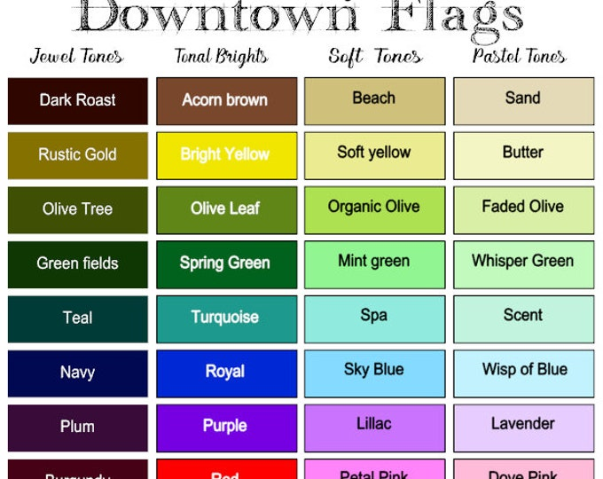 EXACT COLOR MATCHING service added to your flag purchase.  It requires you sending a full color sample to us & we send a printed sample back