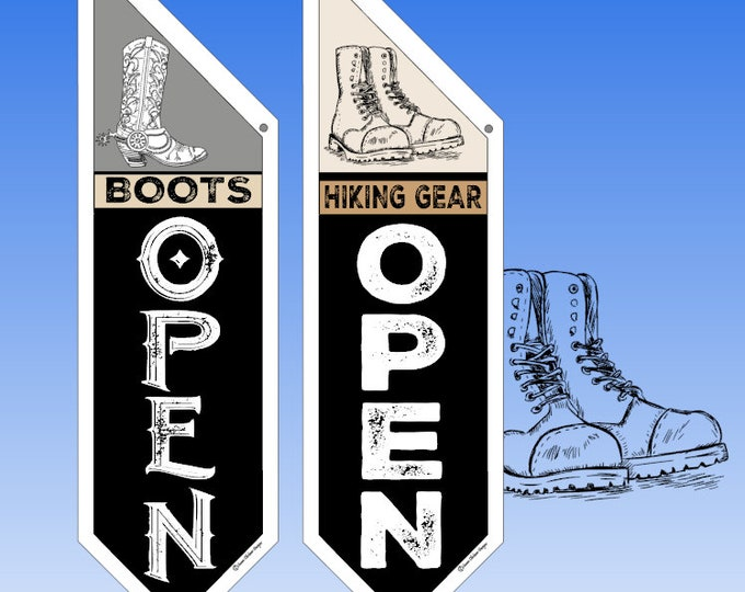 RETAIL Shoe Store flags  * Two designs to choose from * double sided * heavy weight canvas * handmade pole & bracket included * boot flag