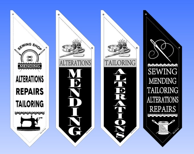 ALTERATIONS * MENDING * SEWING flags  * Several designs to choose from * double sided * heavy weight canvas * Hardware included