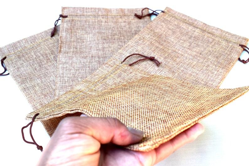 3 Burlap Cotton Bag Pouch Sacks