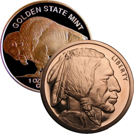Mercury Dime 1oz Copper Round W// Large Eagle #2