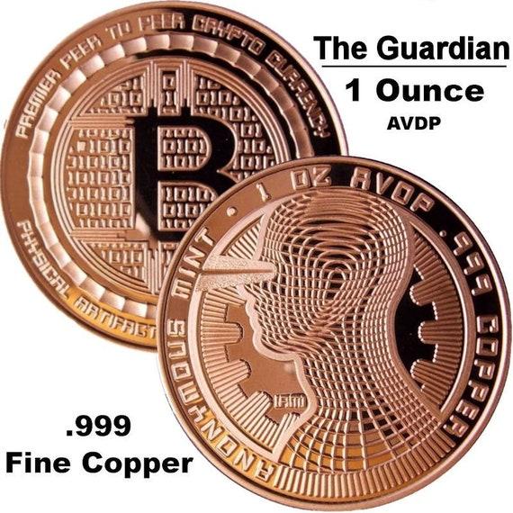 1 oz Copper Round Bitcoin