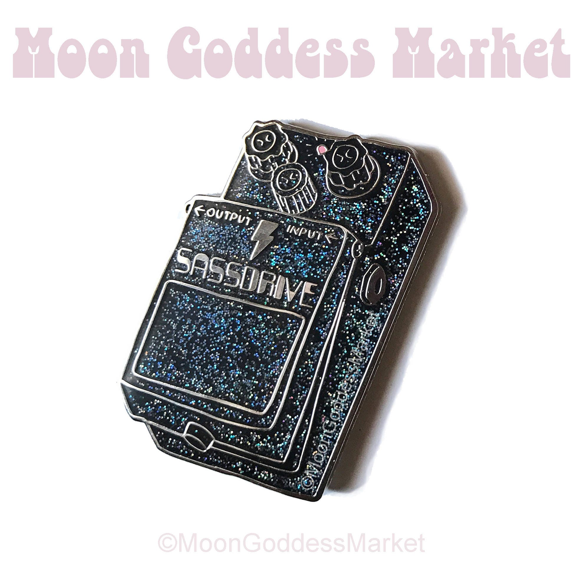 sale sassdrive guitar pedal overdrive pin moon goddess etsy. Black Bedroom Furniture Sets. Home Design Ideas