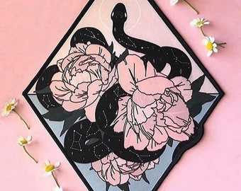 """10"""" Large Iron On Patch by MGM Celestial Snake patch 