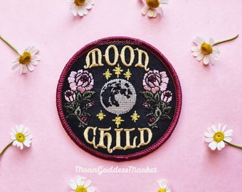 """The ONLY & ORIGNIAL Moon Child Moon Goddess Patch! 3"""" Iron on patch"""