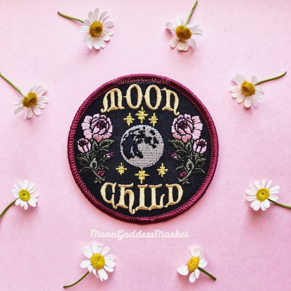 "The Only & Orignial Moon Child Moon Goddess Patch! 3"" Iron On Patch by Etsy"