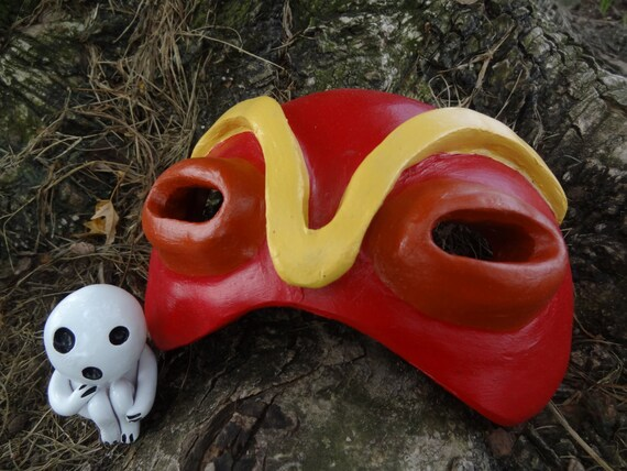 Princess Mononoke Half Mask Etsy