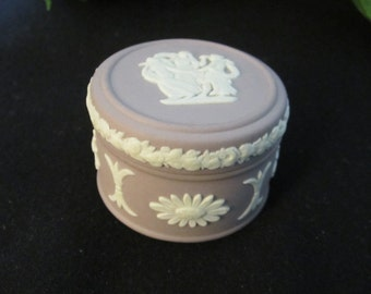 Wedgewood Lilac Trinket Box Three Graces, vintage, Wedgewood, lilac, trinket box, Three Graces, gift for her, Mother's Day
