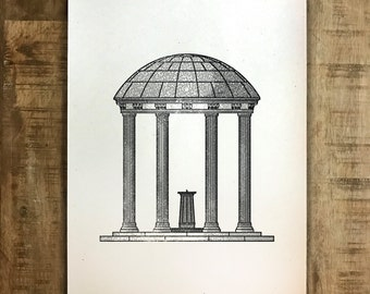 The Old Well - UNC Chapel Hill - Print - Multiple Sizes - Original Illustration
