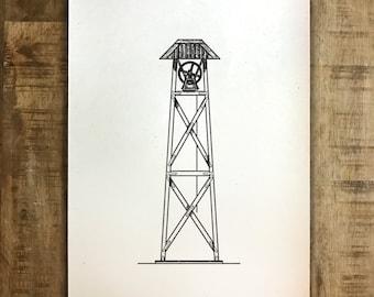 UGA Chapel Bell - Athens, Georgia - Print - Multiple Sizes - Original Illustration