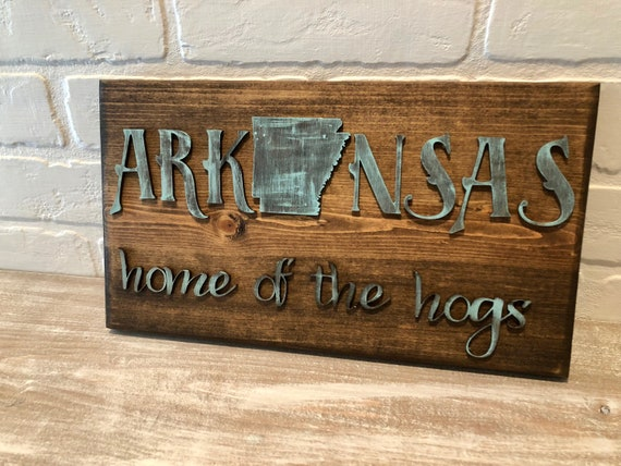 State Map Art, United States Map, Arkansas State Map, Map wall art, Laser  Engraved, Laser Cut, License, Natural State, Home if the Hogs