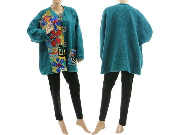 f98b4801a02b0 Boho plus size jacket boiled wool jacket with felt fall