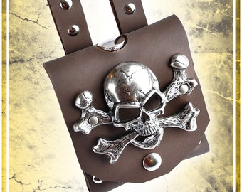 Pirate Flask Leather Holder