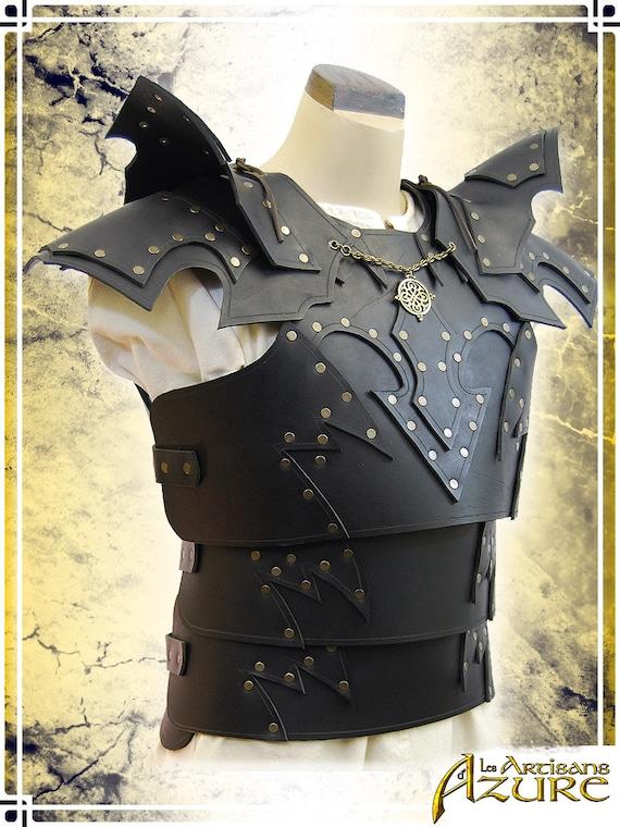 Renaissance Fair Costume LARP Medieval Gladiator Costume Mens Double Shoulder Pauldrons- Dragon Armor