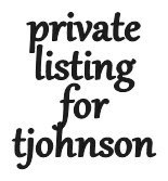 Private Listing for tjohnson