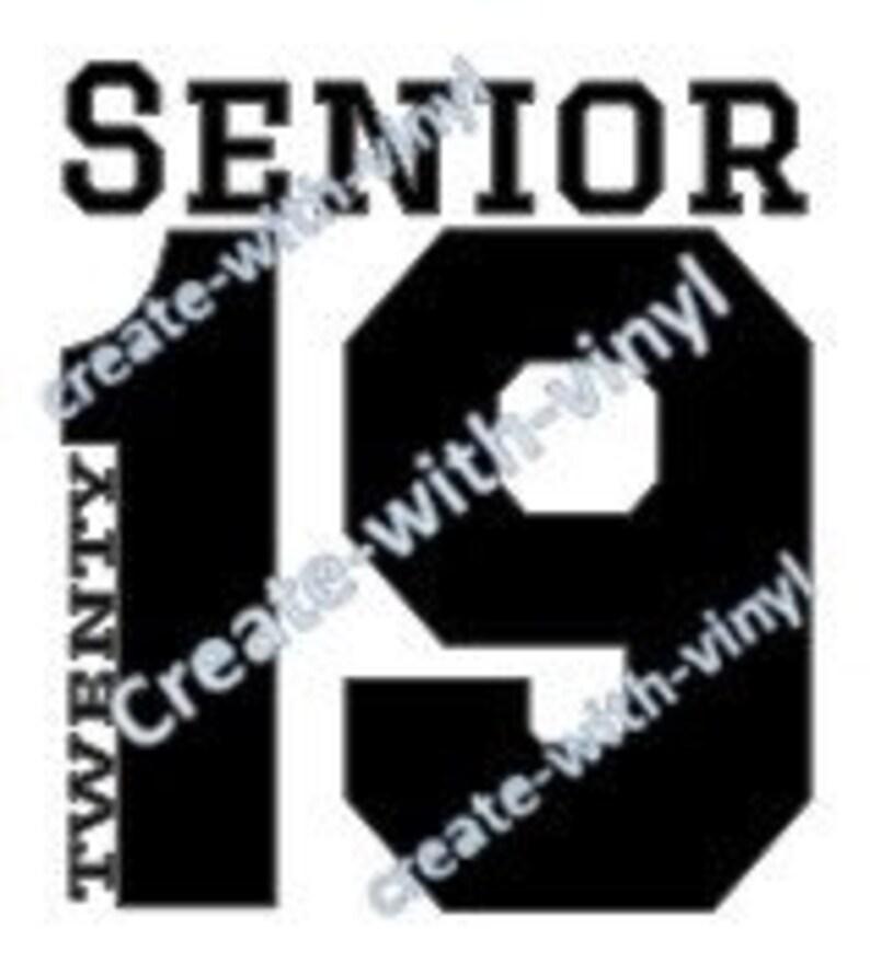 SENIOR 2019 - SVG file - Cameo, Cricut, Embroidery svg files, perfect for  tshirt, Senior, Graduation, Grad gift, cut file