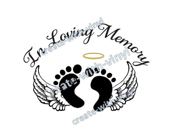 BABY In Memory of SVG file - Cameo, Cricut, Embroidery svg files, memorial  decal - loss of baby - loving memory