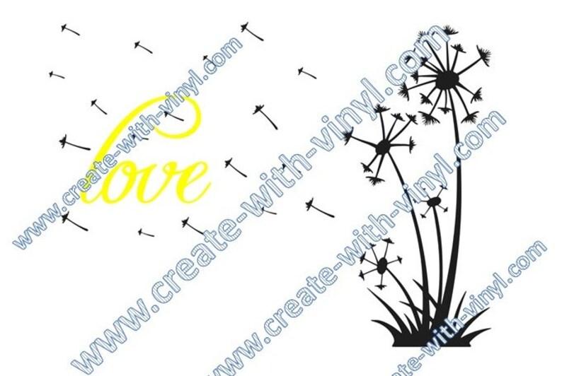 Dandelion Love SVG file - Cameo, Cricut, Embroidery svg files