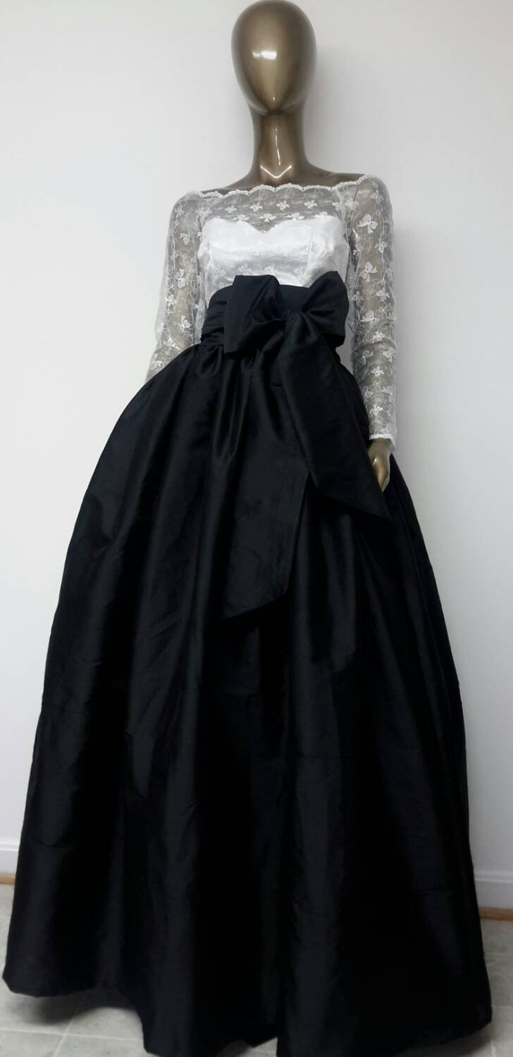 Classic Must Have Fine Indian Silk Taffeta MAXI Skirt. Ball Gown ...