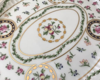 Vintage Floral Porcelain Tray - Delton Products Corp