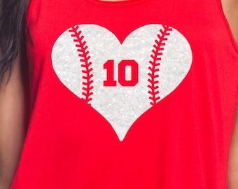 Glitter Baseball Heart Iron On a48e9669f9ea