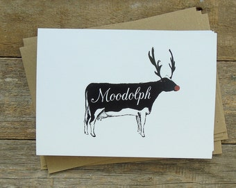 Moodolph Christmas Cards -Pack of 5