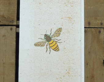 Speckled Bee Print